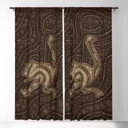 Dot Art Golden Ostrich Blackout Curtain