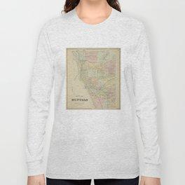 Vintage Map of Buffalo NY (1866) Long Sleeve T-shirt