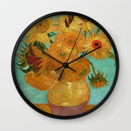 Vincent Van Gogh Twelve Sunflowers In A Vase Wall Clock