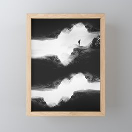 Hello from the The Upside Down World Framed Mini Art Print