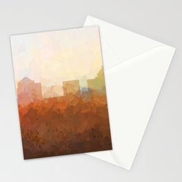 Greensboro, NC Skyline  - In the Clouds Stationery Cards