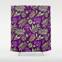 leaves pattern, background from leaves of potted flowering plants Shower Curtain