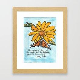 Butterfly Story Framed Art Print