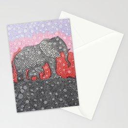 Elephants At Sunrise Stationery Cards