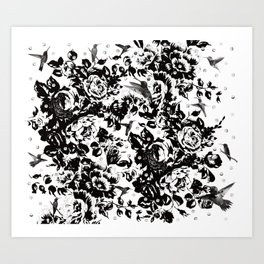Hummingbirds Delight Art Print