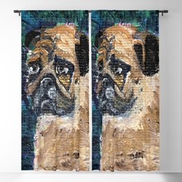The Pug With the Heart of Gold Blackout Curtain