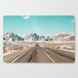 Vintage Desert Road // Winter Storm Red Rock Canyon Las Vegas Nature Scenery View Cutting Board