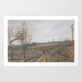 Camille Pissarro - Winter Landscape Art Print