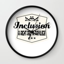 Great for all occassions Inclusion Tee Inclusion Wall Clock
