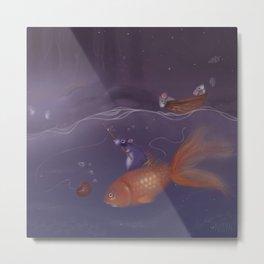 Over Under Water Metal Print