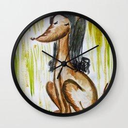 Perro mujer Wall Clock