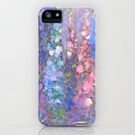 Olde Hollyhock iPhone Case