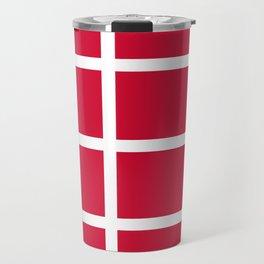 abstraction from the flag of denmark Travel Mug