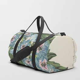 Delphinium Wseo Coelestinum Vintage Botanical Floral Flower Plant Scientific Duffle Bag
