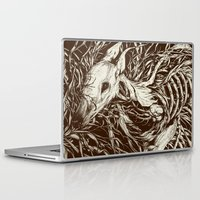 eyes Laptop & iPad Skins featuring doe-eyed by Teagan White