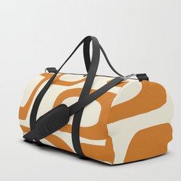 Mid Century Modern Shapes 1970s Orange #society6 #buyart  Duffle Bag