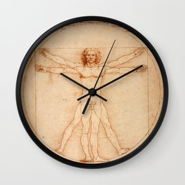Vitruvian Man (c. 1490) Wall Clock