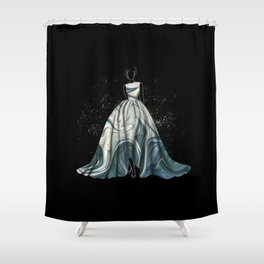 Evening Gown Fashion Illustration #1 Shower Curtain