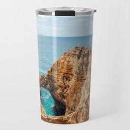Ocean Landscape, Rocks And Cliffs, Lagos Bay Coast, Algarve Portugal,Wall Art, Poster Decor Travel Mug