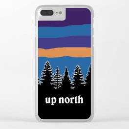 up north, blue & purple Clear iPhone Case