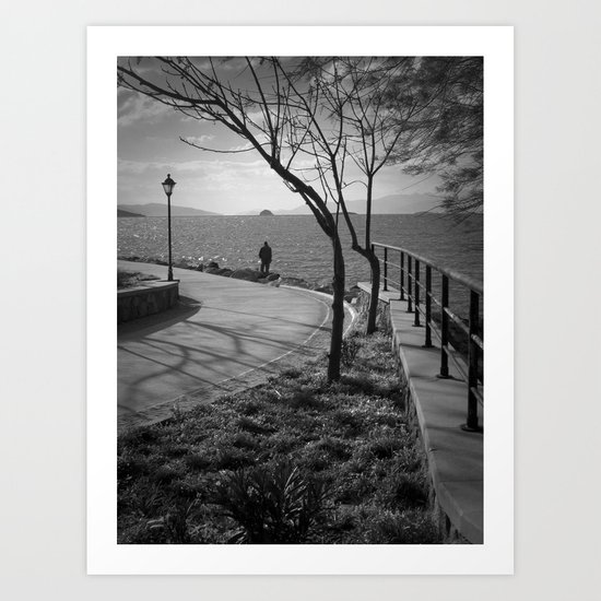 alone at the beach Art Print
