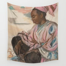 Moroccan girl. Marrakesh, 1932, Zinaida Serebriakova Wall Tapestry