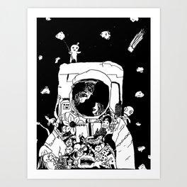 Lost & found space cadet Art Print