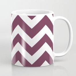 Wine dregs - violet color - Zigzag Chevron Pattern Coffee Mug