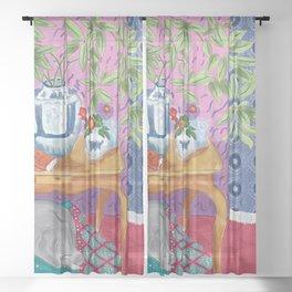 WEIMATISSE Sheer Curtain