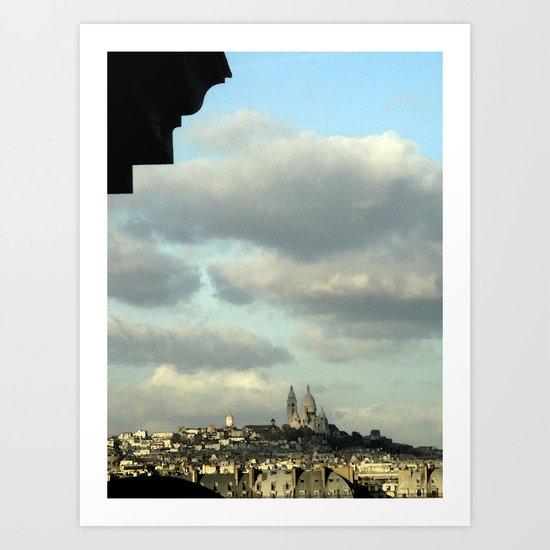 Paris: Sacré-Cœur from Musée d'Orsay Art Print