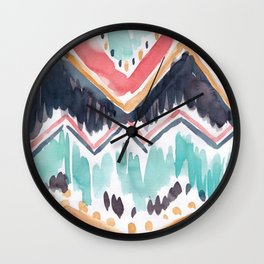 Tribal Watercolour Wall Clock
