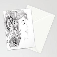 Robot Girl Stationery Cards