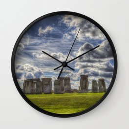 Stonehenge Summer Wall Clock