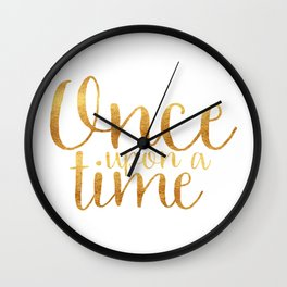 Once Upon a Time - Gold Wall Clock