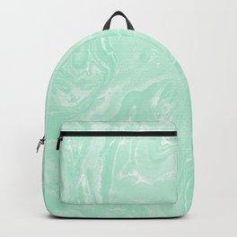 Pastel Mint Green Marble Minimalist Backpack