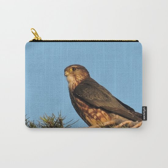 Cooper's Hawk in Evening Light Carry-All Pouch
