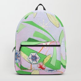 Christmas Tinsel Pink Backpack