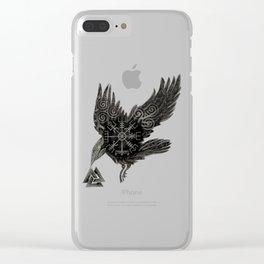 Norse Raven & Rune Clear iPhone Case