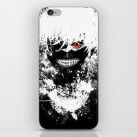 tokyo ghoul iPhone & iPod Skins featuring Kaneki Tokyo Ghoul by Prince Of Darkness