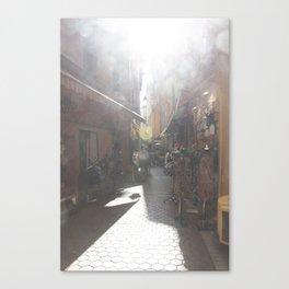 Nice: Street Vendors Canvas Print