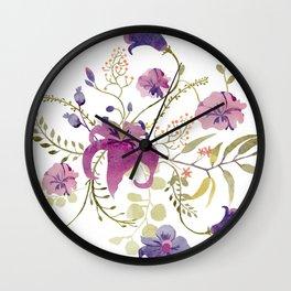 Floral tenderness Wall Clock