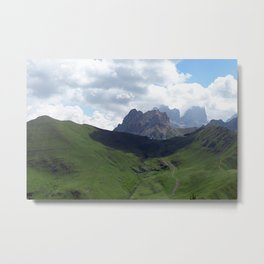 Highland Meadow Mountain Peaks Landscape Metal Print