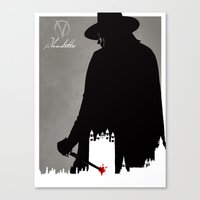 vendetta Canvas Prints featuring Vendetta by Fan Prints