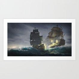 Pirates! (The battle) Art Print