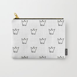 Black Crowns Pattern Carry-All Pouch