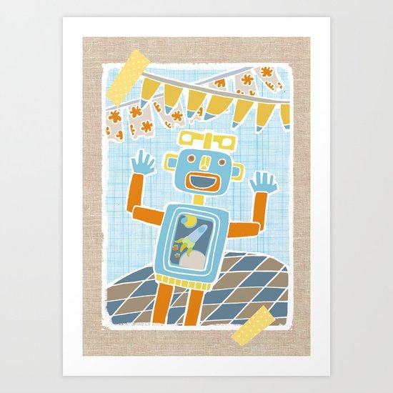 party robot Art Print
