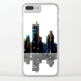 Fort Worth Skyline BW1 Clear iPhone Case