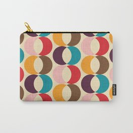 Mid Century Modern Circles Carry-All Pouch