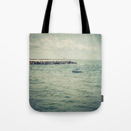 Boating By The Spit Tote Bag