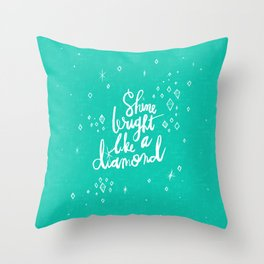 Shine Bright Like A Diamond - Green Throw Pillow